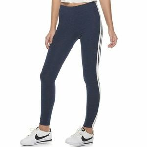 Juniors' SO® Side Stripe Core Midrise Leggings/L